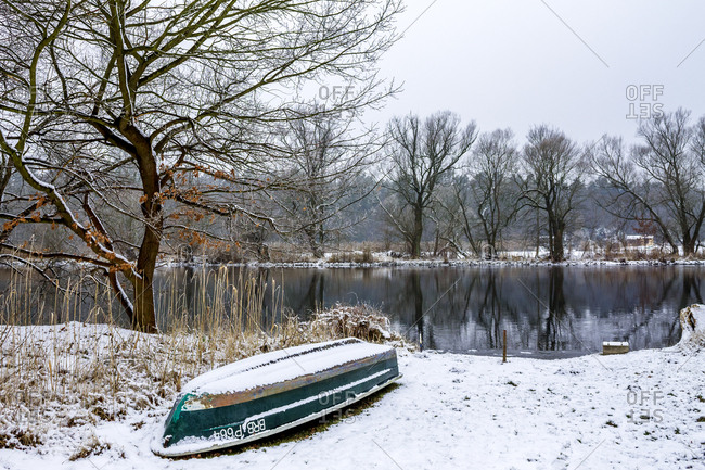 February 28, 2018: Germany- Brandenburg- Havelland- River Havel in winter