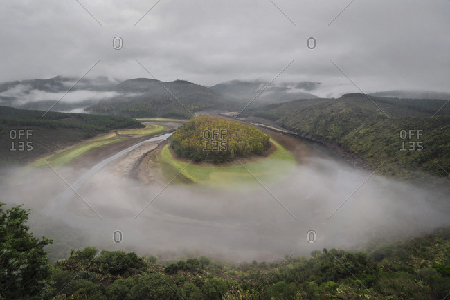 Spain- Extremadura- Las Hurdes- Meander Rio Alagon