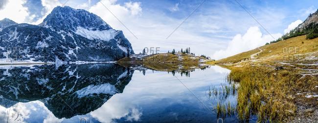 Germany- Bavaria- Allgaeu- Allgaeu Alps- Oberstdorf- Rubihorn- Entschenkopf- Geissalp Valley- Geissalpsee