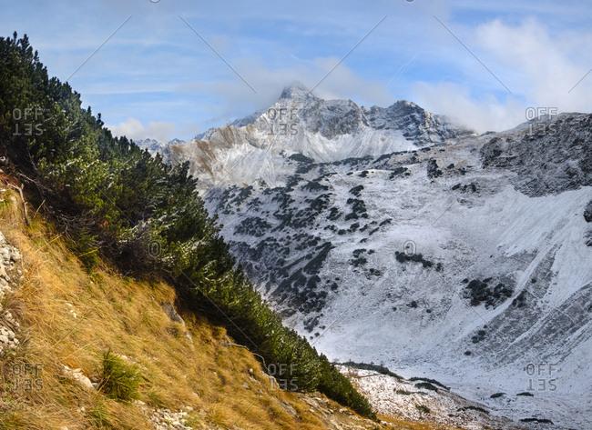 Germany- Bavaria- Allgaeu- Allgaeu Alps- Oberstdorf- Rubihorn- Entschenkopf- Geissalp Valley