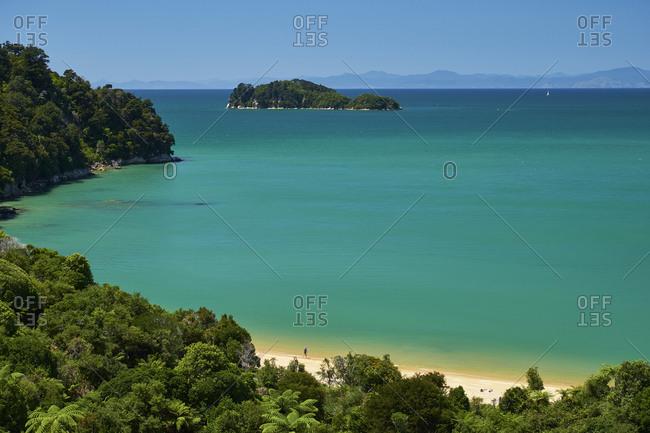 New Zealand- South Island- Abel Tasman National Park- beach and sea