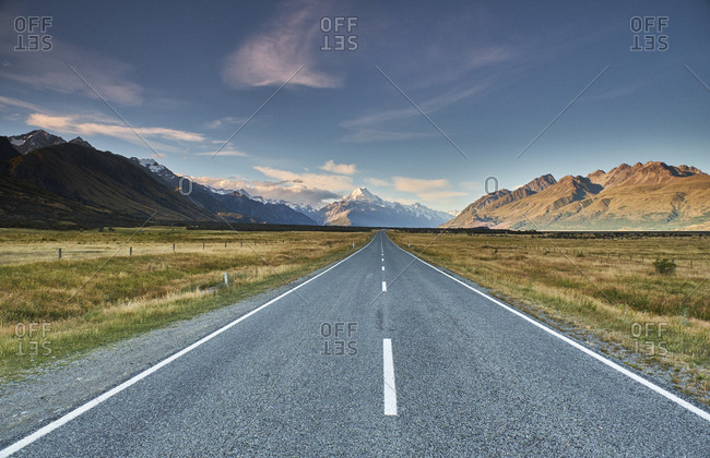 New Zealand- South Island- Mount Cook National Park- Tasman Valley Road