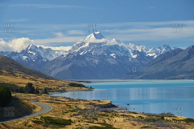 New Zealand- South Island- Lake Pukaki- Mount Cook