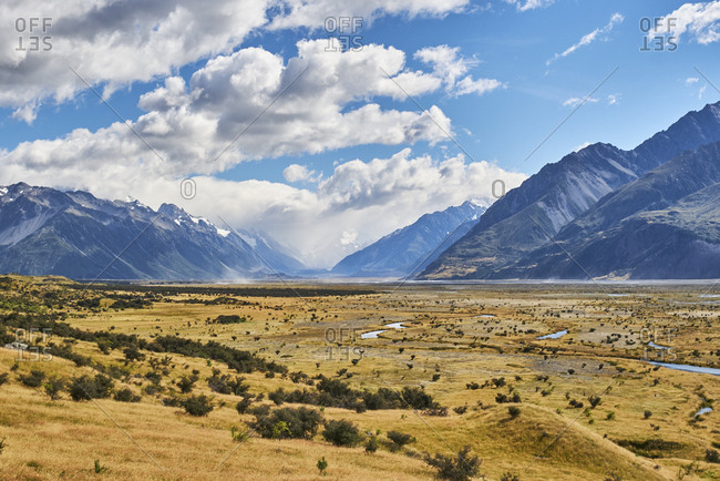 New Zealand- South Island- Mount Cook National Park- Tasman River Valley