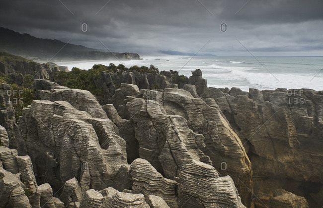 New Zealand- South Island- West coast- Punakaiki- Pancake Rocks
