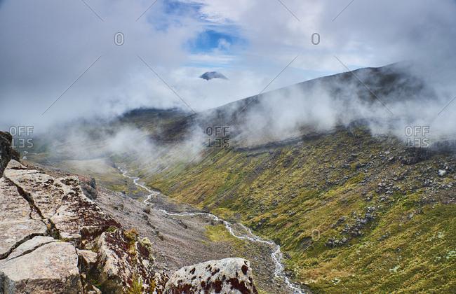 New Zealand- North Island- Tongariro National Park- volcanic landscape