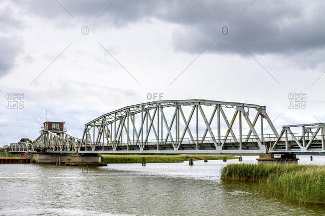 Germany- Mecklenburg-Western Pomerania- Zingst- Meinigen bridge between peninsula ZIngst and mainland near Bresewitz