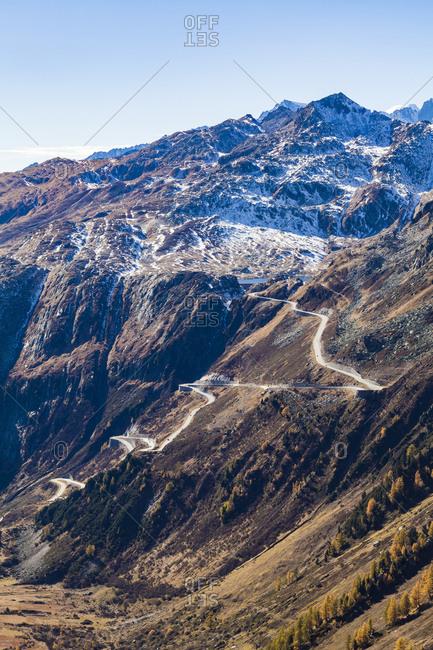 Switzerland- Valais- Alps- view to Grimsel Pass