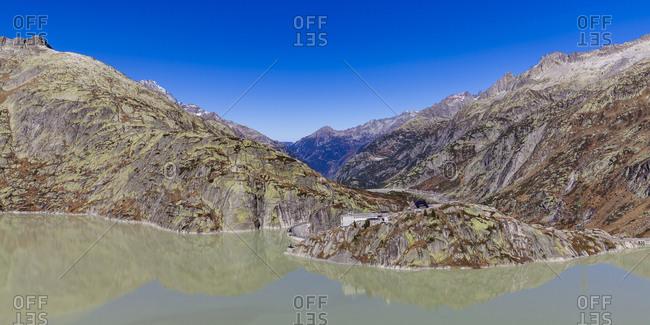 Switzerland- Valais- Alps- Bernese Oberland- Lake Grimsel