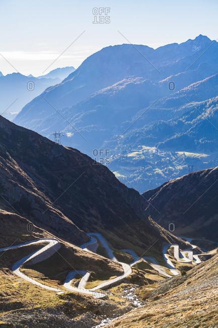 Switzerland- Valais- Alps- Gotthard pass