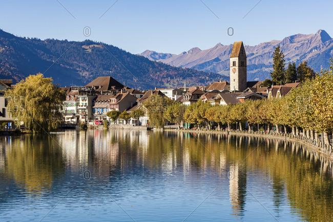 Switzerland- Bern- Bernese Oberland- Interlaken- Old town- Aare river