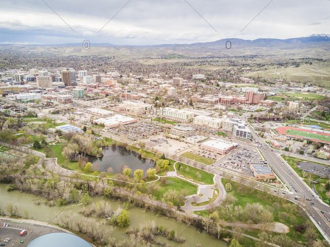 Aerial view of Boise Idaho