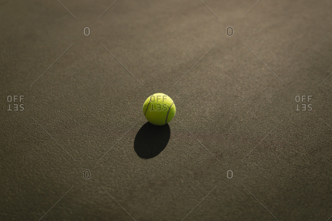 Tennis ball in the tennis court