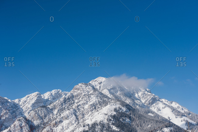 Snow capped mountains during winter