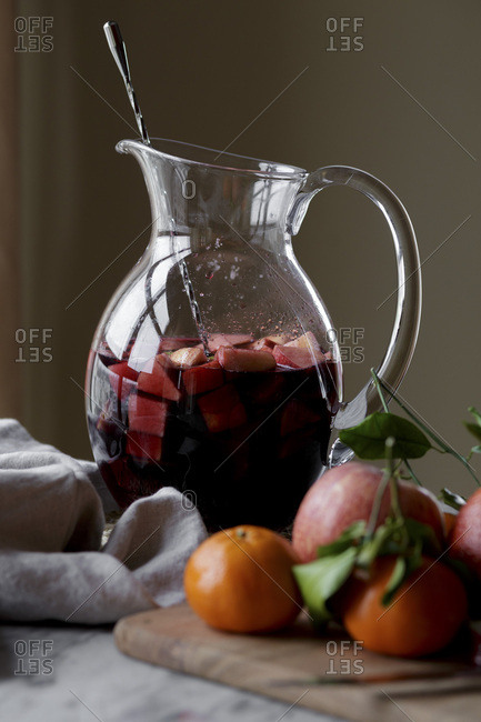 Sangria in a pitcher