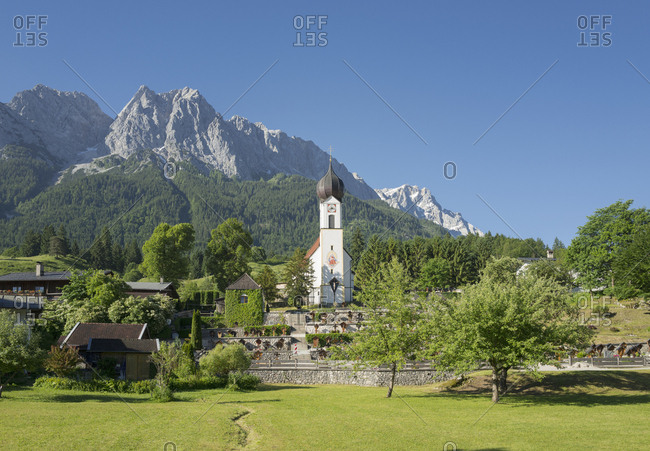 Mountain village alps Church picturesque Germany