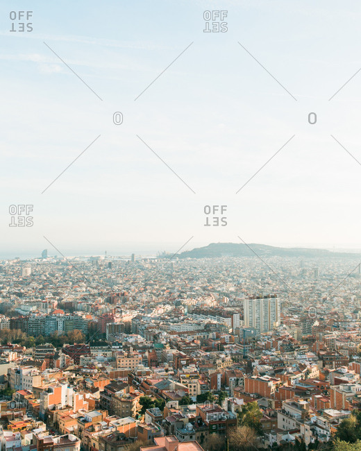 View of Barcelona, Spain from Bunkers del Carmel