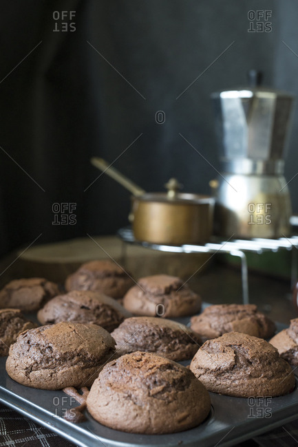 Chocolate baked muffins