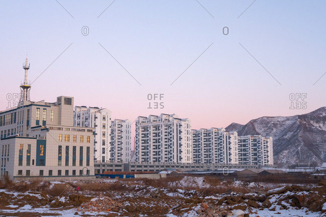 Industrial buildings in Changbai, China