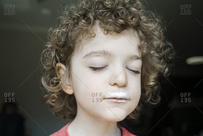 Milk Mustache For This Boy