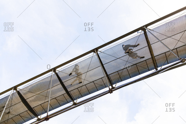 Germany- Stuttgart- free-floating pedestrian bridge