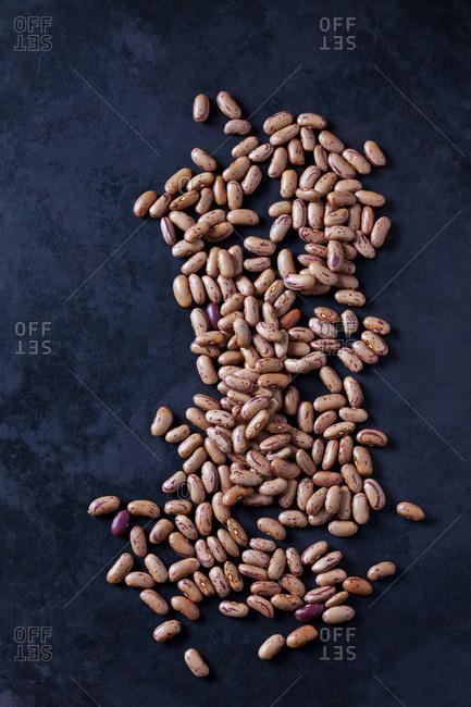 Pinto Beans on dark ground