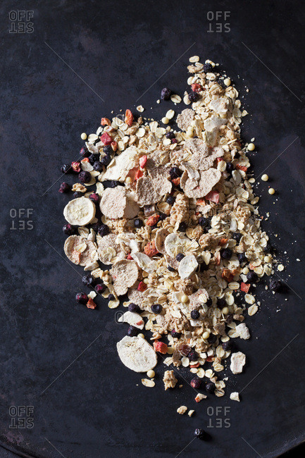 Fruit muesli with dried fruits