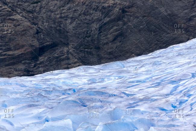 USA- Alaska- Juneau- Mendenhall glacier- rock