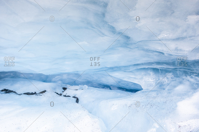 USA- Alaska- Valdez Glacier- Ice cave- ice crevice