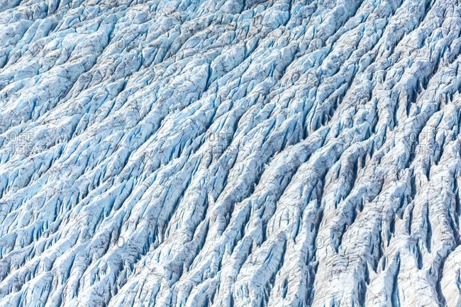 USA- Alaska- Aerial view of Ruth Glacier