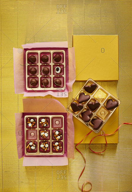 Valentine's candy in boxes