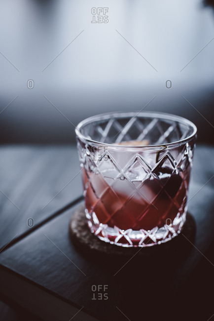 Blood orange old fashioned cocktail