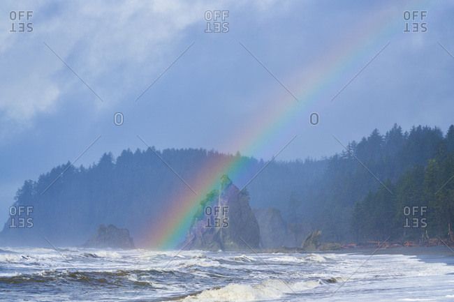 Rainbow over Olympic National Park, Washington