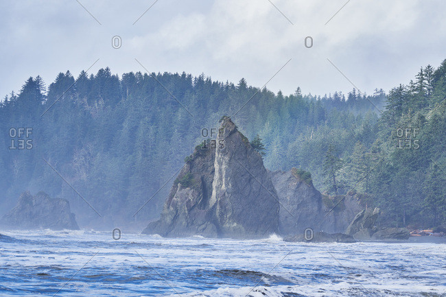 Rock formation in Olympic National Park, Washington