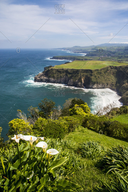 Sao Miguel, Azores, Portugal - March 27, 2016: View Of Santa Iria Bay; Sao Miguel, Azores, Portugal