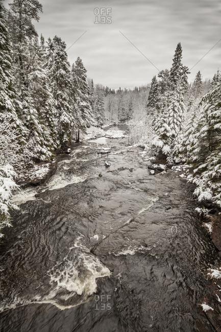 Thunder Bay, Ontario, Canada - November 13, 2015: Winter Wonderland Landscape; Thunder Bay, Ontario, Canada