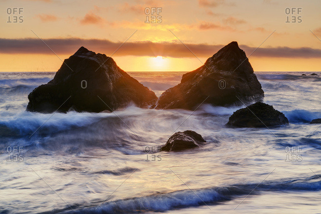 California, United States of America - July 2, 2014: False Klamath Cove Beach, Redwood National And State Parks; California, United States Of America