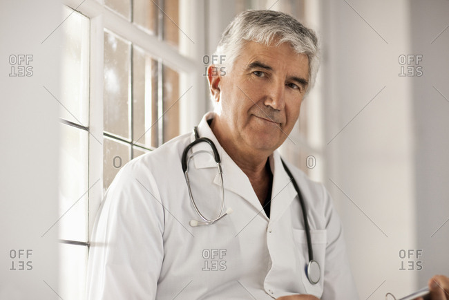 Portrait of a senior male doctor.
