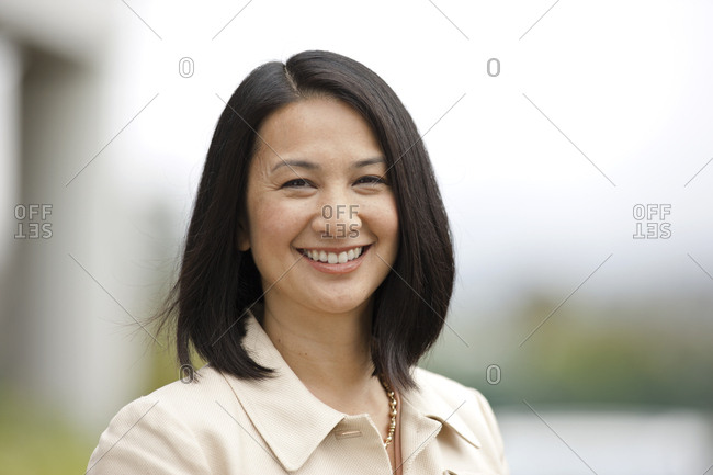 Portrait of a smiling mid adult woman.