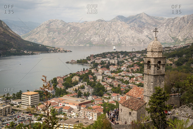 Montenegro - December 6, 2017: Church of Our Lady of Remedy in Kotor