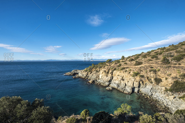 Tranquil view of sea against sky