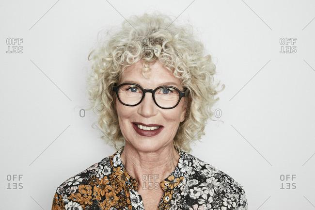 Portrait of blond mature woman