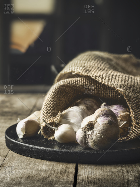 Garlic in sack