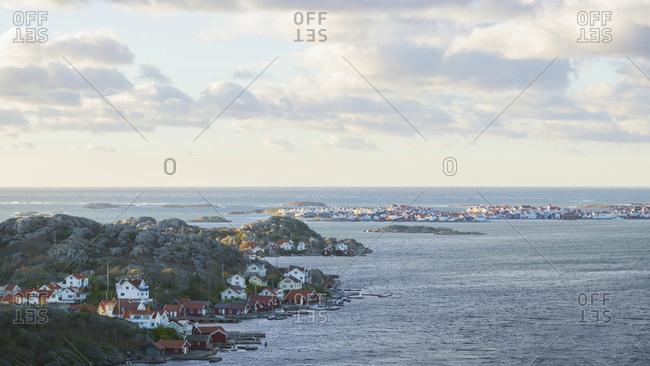 Sea coastline with houses