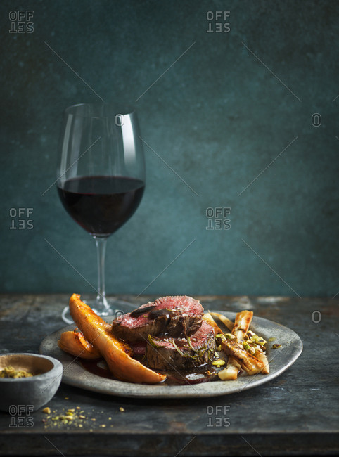 Steak and red wine