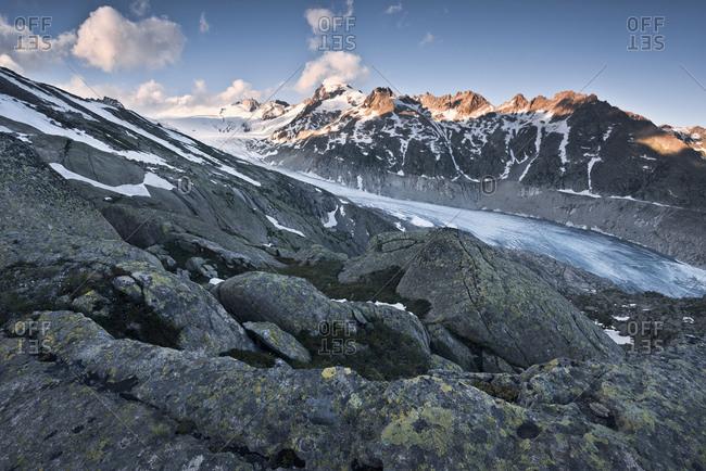 Rhone Glacier from above, Uri, Switzerland