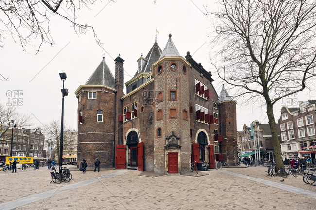 Amsterdam, Holland - February 14, 2018: The Waag in Amsterdam in the Netherlands