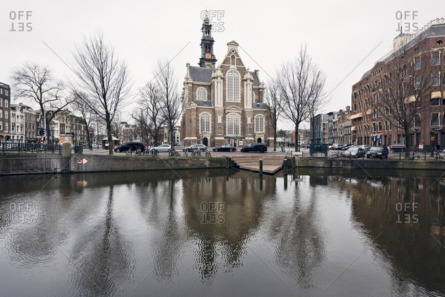 Amsterdam, Holland - February 14, 2018: Westerkerk church in Amsterdam
