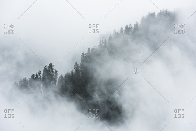 Misty mood in the Dolomite Alps, Italy