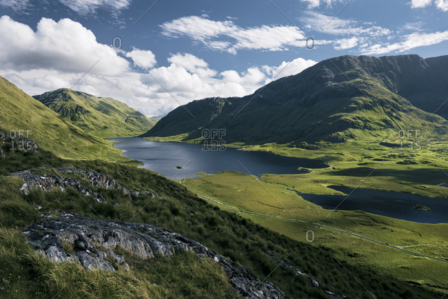 Vast view into the Doolough Valley, County Mayo, Ireland
